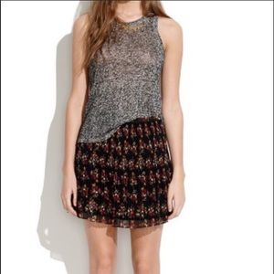 Madewell Mountain Floral Pleated Mini Skirt Size 2